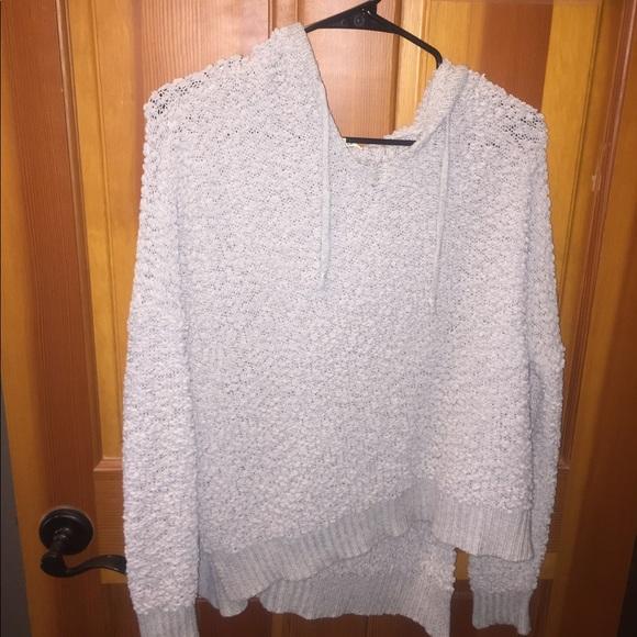 Jackets & Blazers - Gray fuzzy sweatshirt